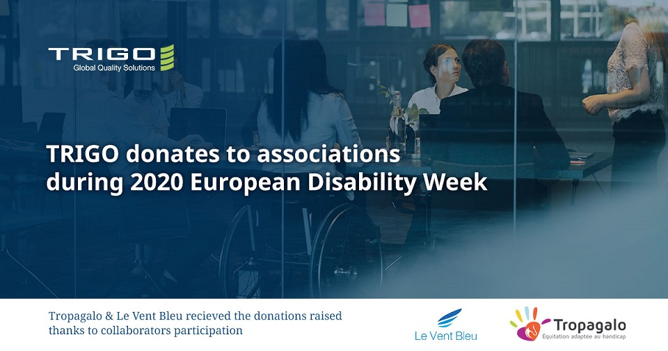 TRIGO donates to Associations during 2020 European Disability Week